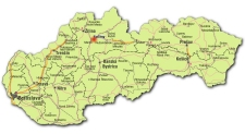 Clik here to get large map of Slovakia
